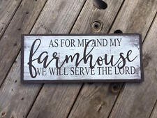 As for me and my farmhouse sign . Handmade farmhouse. Bible verse sign