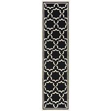 Safavieh Flat weave Wool Black/ Ivory 2' 6 x 6' Runner