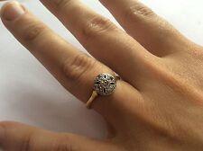 Assolutamente sbalorditivo ART DECO 18ct 18K 750 ORO, platino e diamante anello
