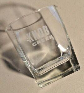 "Vintage 1970s Knob Creek Whiskey Rocks Glass Cup 3.5"" height"