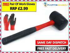 Amtech 16oz Rubber Hammer Mallet Fibre Glass Shaft Handle Rubber Grip A1580