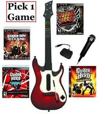 NEW PS3 Guitar Hero 5 Guitar, Microphone & 1 Guitar Hero/Rock Band Game Combo