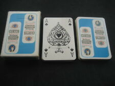 Baraja de Poker con Publicidad WHISKY CURTIS azul. Vintage Playing cards