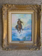 "Artist Pilar Pallete Wayne ORIGINAL OIL PAINTING by John Wayne's Widow 16"" x 19"""