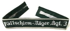 WWII GERMAN LUFTWAFFE FALLSCHIRMJAGER SLEEVE EMBROIDERED CUFF TITLE-REGIMENTAL 3