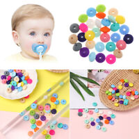 Bracelet Round Baby Teether BPA-Free Silicone Mom DIY Necklace Chew Beads