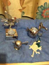 Marks And Spencer Christmas Stainless Steel Robin Tea Light Ornament Set