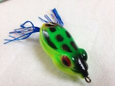 Best Soft Weedless Frog Green/ Cocoa - Blue / White orange flecked skirt