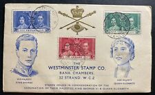 1937 Colombo Ceylon King George VI Coronation FDC First Day Cover KGVI 1