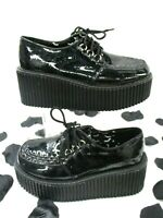 Demonia Glittery Black Patent Vegan Leather CREEPER Goth egirl Sz 8 Creepers ARE