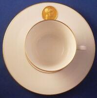 KPM Berlin Porcelain Arcadia Gold Design Cup & Saucer Porzellan Tasse German