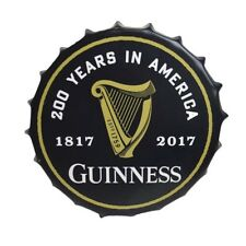 Guinness HARP 200th Anniversary Metal Bottle Cap Sign Ireland Irish Wall Art New