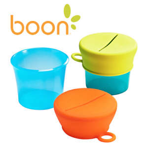 Tomy Boon SNUG Baby Feeding Snack Containers With Removable Lids 2 Pack B11125