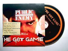CD SINGLE B.O. FILM ▓ PUBLIC ENEMY ( SPIKE LEE ) : HE GOT GAME