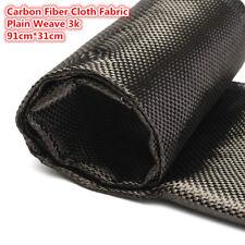 91x30cm Tessuto in vera fibra di carbonio cloth Filato 3K 2x2 Twill Batavia Nero
