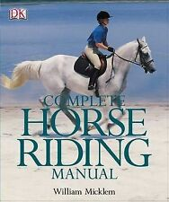 Complete Horse Riding Manual, Micklem, William | Hardcover Book | Good | 9780751