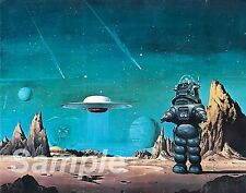 VINTAGE FORBIDDEN PLANET MOVIE POSTER A2 PRINT