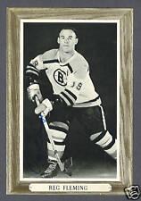 Reggie Fleming signed vintage hockey Bee-Hive photo