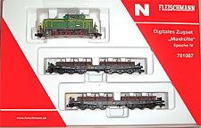 Zugset Maxhütte DIGITAL Lok m 2 Wagen Fleischmann 781087 Spur N 1:160 NEU HR4 µ*