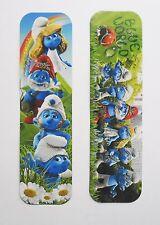 The Smurfs 2pcs Cardboard Bookmarks 6.5'' lenght (16cm).