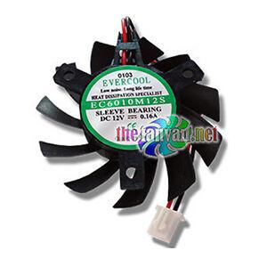 Evercool 60mm Drop In VGA Card Replacement Fan 3 screw VC-EC6010M12S