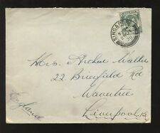 SINGAPORE 1938 KG6 8c SOLO COVER to LIVERPOOL...BOUSTEAD + CO AGENT CACHET