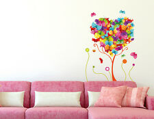 57000120 | Wall Stickers Butterflies Trees Colourful Beautiful Art Living Room