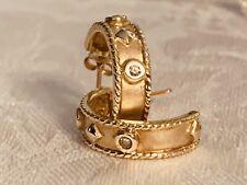Alwand Vahan 10K Gold and Diamond Hoop Earrings