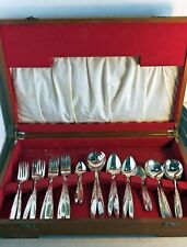Vintage Wiltshire Silverplate Part Cutlery Set in Timber Canteen, 1967 (6476)