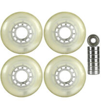 Inline Wheels Multipurpose Clear/Clear 76mm 78a Set of 4 Abec 9