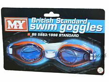 M.Y BRITISH STANDARD SAFETY GOGGLES SWIM AID SWIMMING EYE PROTECTION SAFE NEW 3+