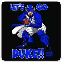 "Duke University Basketball ""Let's Go Duke"" -Blue Devil w/ basketball type MAGNET"