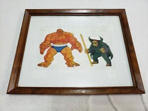 Rare Fantastic Four Animation Cel Framed 1990 (Pre-Owned)