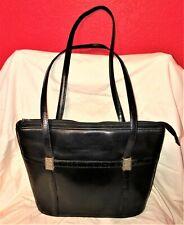 BRIGHTON 173136 Large BLACK LEATHER Western SHOULDER BAG PURSE Silver Hardware!!