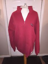 ROOTS 1/4 Zip Sweater CORVETTE LOGO SMALL RED