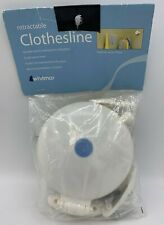 NEW WHITMOR Retractable Clothesline Extends To 9 Feet For Indoor or Outdoor NIP