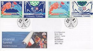 """""""CHANNEL TUNNEL"""" FIRST DAY COVER 3.5.1994  POST FREE UK"""