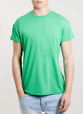 Topman Cotton Blend Crew Neck Short Sleeve T-Shirts for Men
