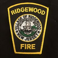 Ridgewood Fire Dept Patch - New Jersey - 4 inches x 4 3/4 inches