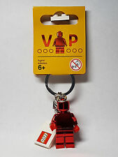 Brand New Lego VIP Exclusive Red Chrome Keyring (2017) Valentine's Day 5005205