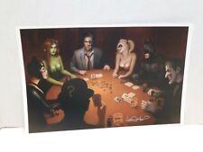 Nathan Szerdy SIGNED Batman Poker Art Print Joker Harley Quinn Catwoman Two-Face