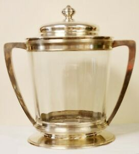 RARE ANTIQUE AUSTRIAN LARGE 800 SILVER ICE BUCKET BY VINCENT MAYER'S SOHNE