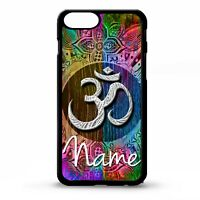 Om Aum symbol namaste floral flower pattern personalised name phone case cover