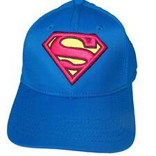 Baseball Cap - Superman - Logo Blue Active Hat New Anime Licensed bx209espm