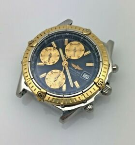 Breitling 2000s Chronomat Automatic Ref D13352 Steel & 18k Gold Mens Wristwatch