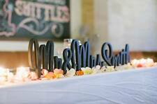 Free Standing 20cms Personalised wedding Mr & Mrs surname wooden letters sign