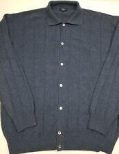 Burberry London Golf Sweater XXL 70 Wool 30 Cashmere Button Down Sweater