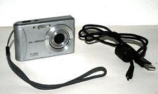 Olympus T-100 Silver 12MP AF 3X Optical Zoom Digital Camera Bundle USB Cable