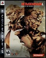 Metal Gear Solid 4: Guns of the Patriots LIMITED EDITION PS3 Playstation 3 Game