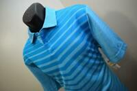 35423 New Mens Greg Norman PlayDry Attack Life Striped Golf Polo Size Medium